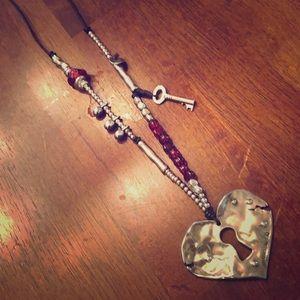Uno de 50 Large Heart Necklace